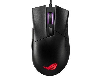 Myš Asus ROG Gladius II Core / optická/ 6 tlačítka / 6200DPI - černá