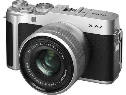 CSC fotoaparát FujiFilm X-A7 + XC15-45, stříbrný