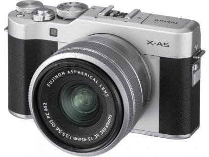 CSC fotoaparát FujiFilm X-A5 + XC15-45, stříbrný