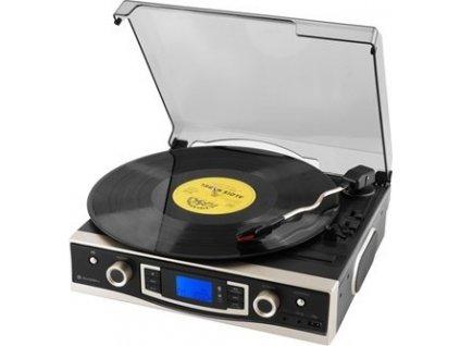 Gramofon GoGEN MSG 262 BT U, s digitálním FM rádiem, bluetooth, USB a rippováním