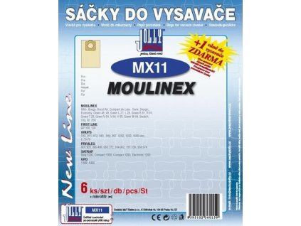 Sáčky do vysavače Jolly MX 11 (6+1ks) do vysav. MOULINEX