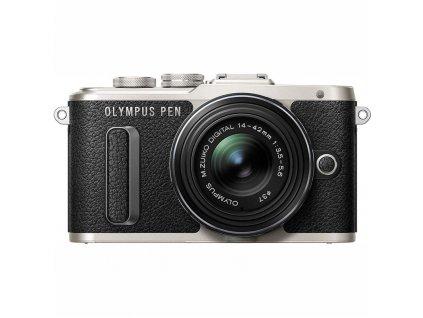 CSC fotoaparát Olympus E-PL8 + 14-42 Kit, černý/stříbrný