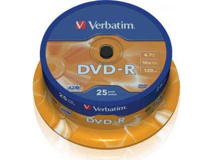 Disk Verbatim DVD-R 4,7GB, 16x, 25cake