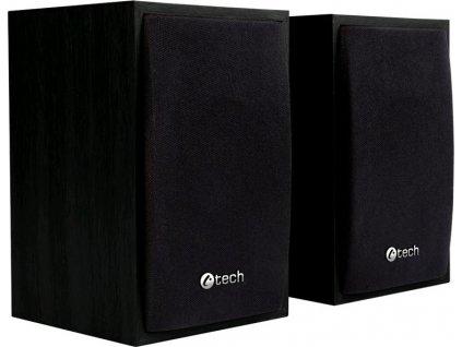 Reproduktory C-Tech SPK-09, 2.0 - černé/dřevo
