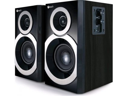 Reproduktory C-Tech SPK-310B, 2.0 - černé/dřevo
