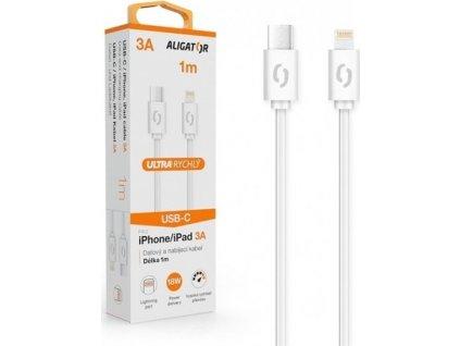 ALI DK 3A, USB-C/lightning, bílý DATKP34