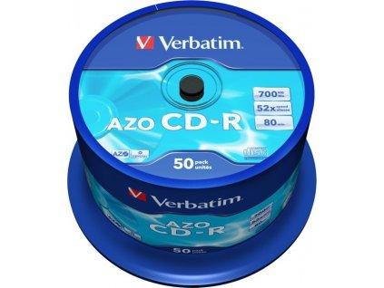 Disk Verbatim CD-R 700MB/80min, 52x, Crystal, 50cake