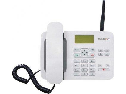 Domácí telefon Aligator T100 (stolní) - bílý