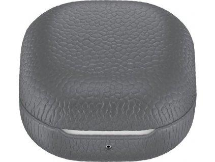 Pouzdro Samsung Buds Live/Buds Pro, kožené - šedé