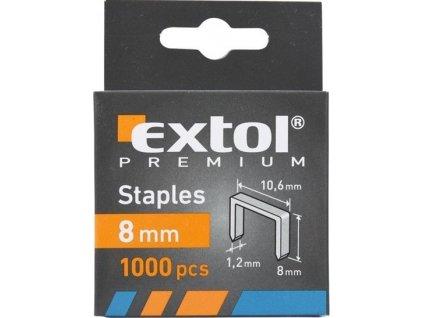EXTOL 8852202 spony, balení 1000ks, 8mm