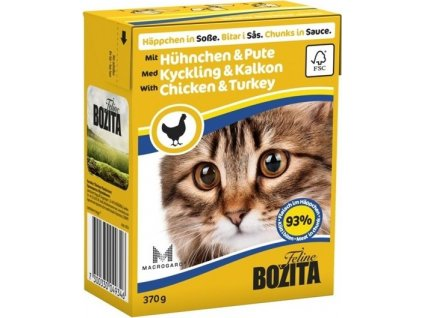 BOZITA Cat kousky v omáčce kuře a krůta