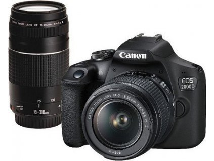 Canon EOS 2000D + 18-55 IS + 75-300