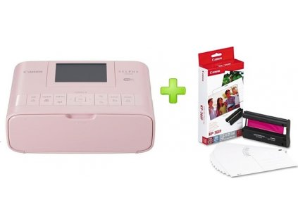 CANON Selphy CP-1300 Pink + KP-36IP