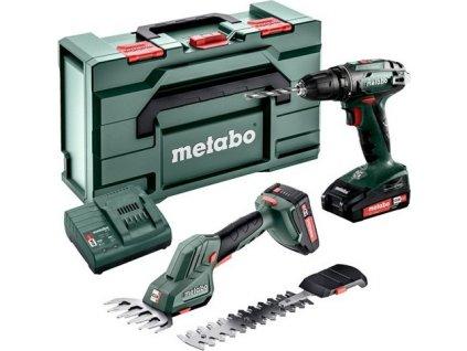 Aku vrtačka a nůžky na trávu Metabo 2.2.5 18V BS+SGS LTX Q 2x2,0Ah Combo Set