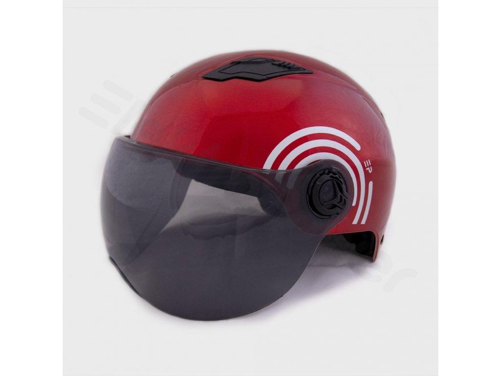 Helma na skútr Elektropower červená