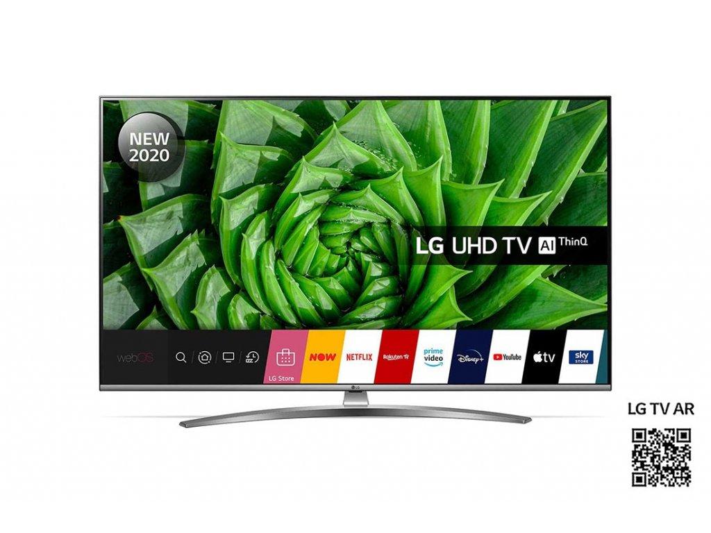 55 LG 55UN81003LB černá / 4K UHD / LED / HDMI / USB / LAN / Wi-Fi / DVB- T2 S2 C / 20W repro (55UN81003LB)  + 50x ULTRA respirátor FFP2 + Expresní vyskladnění