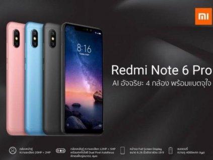 Xiaomi Redmi Note 6 Pro 4GB/64GB  + Zdarma chytrý vypínač Aqara v hodnotě 590,-Kč a silikonové pouzdro