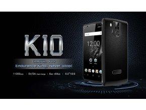 OUKITEL K10 6GB/64GB 21Mpix 11000mAh FHD+ CZ LTE  + Záruka 27 měsíců + 2x lcd folie + redukce + čistící hadřík + OTG + luxusní silikonové pouzdro v hodnotě 590Kč + Haribo bonbony pro Vaše ratole