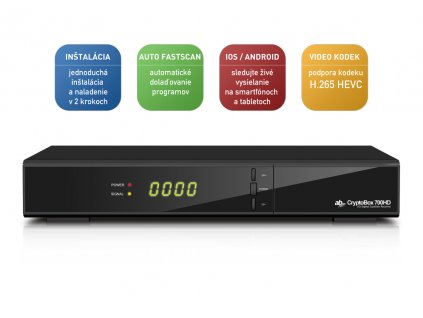 AB DVB-S2 přijímač Cryptobox 700HD TEST