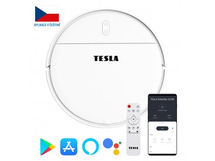 TESLA RoboStar iQ100 - robotický vysavač (bílá barva)  + Dárek zdarma