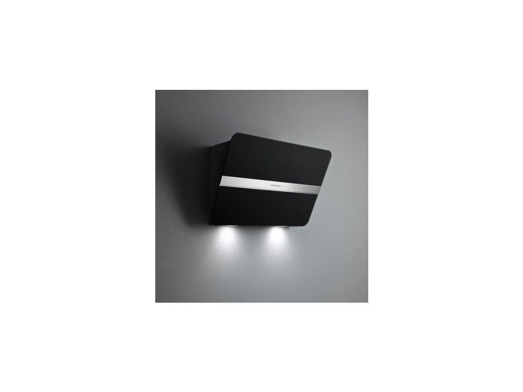 FALMEC FLIPPER nástěnný 85 cm černé sklo