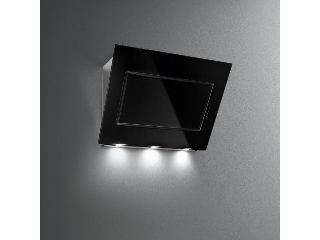 FALMEC Quasar nástěnný 90 cm černé sklo