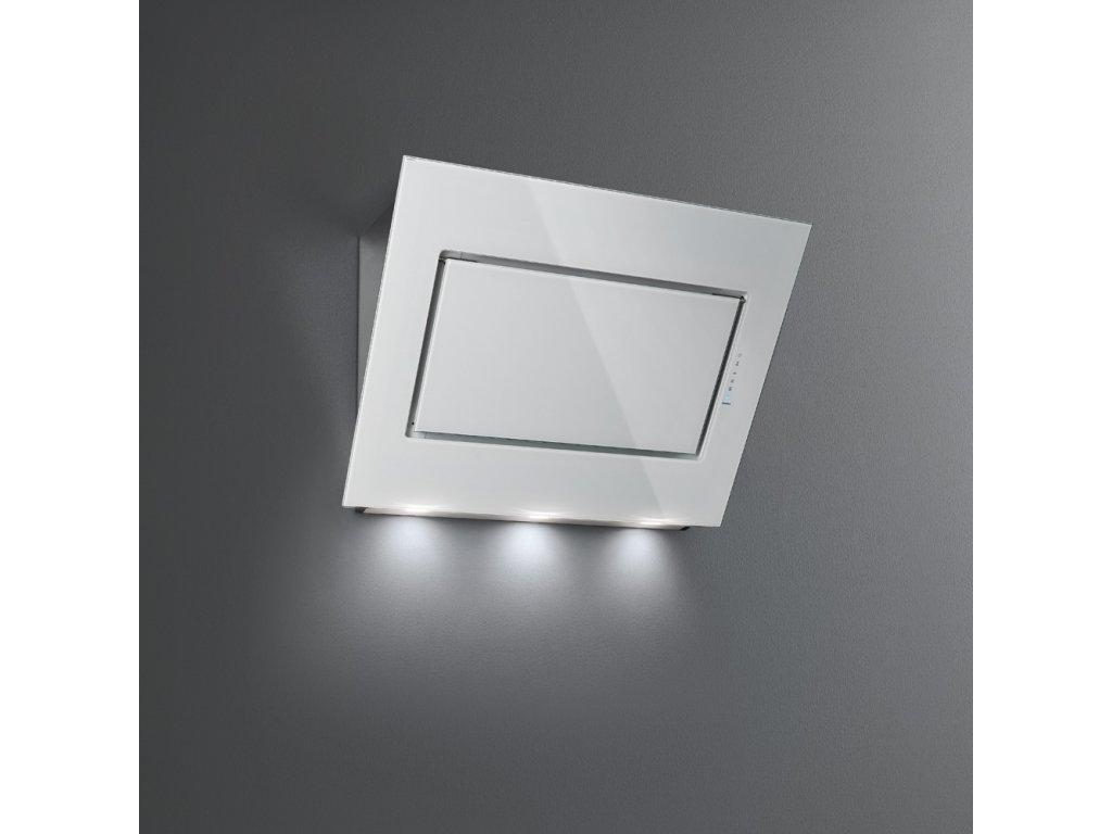 FALMEC Quasar nástěnný 90 cm bílé sklo