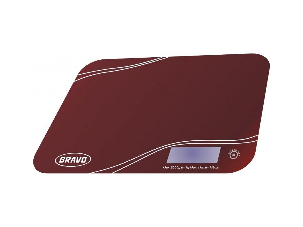 BRAVO B-5061 červená kuchyňská váha