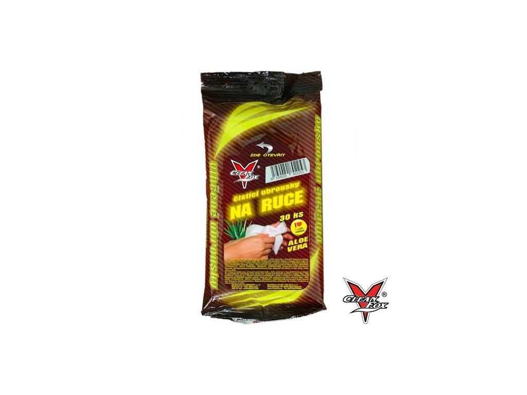 CLEANFOX® Čistící ubrousky na ruce Aloe vera 30 ks