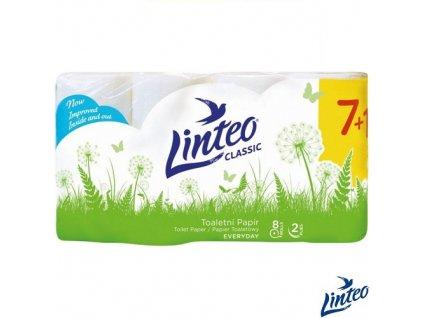Toaletní papír Linteo Classic 2vrstvý 8 rolí bílý