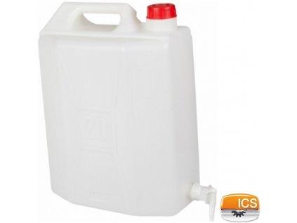 ICS® Kanystr plastový s výpustným ventilem, 20 l