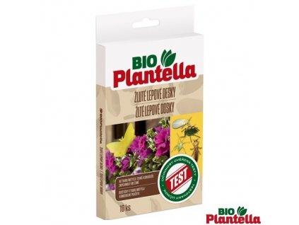 BIO PLANTELLA® Lepové desky žluté motýl, 13 x 9 cm, 10 ks