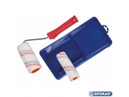 Sada lakovací váleček MIDI MIKROPLYŠ 10cm+držadlo+miska+váleček MINI MIKROPLYŠ 10cm ZDARMA spokar