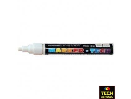 Marker tech bílý široký