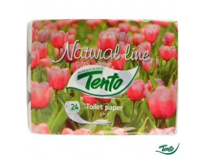 Toaletní papír Tento Natural line 3 vrstvý 24 rolí