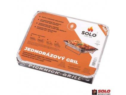 SOLO® Jednorázový gril + dřevěné uhlí, 450 g