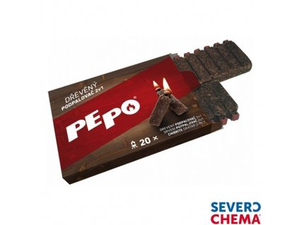 PE-PO® Dřevěný podpalovač 2v1, 20 podpalů