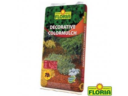 FLORIA® Dekorativní mulčovací kůra, cihlově červená, 70 l