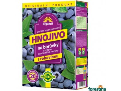 FORESTINA® BIOMIN Granulované hnojivo s rohovinou na borůvky, 1 kg