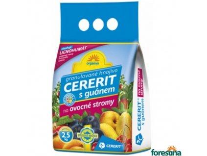 CERERIT® ORGAMIN granulované hnojivo s guánem na ovocné stromy, 2,5 kg