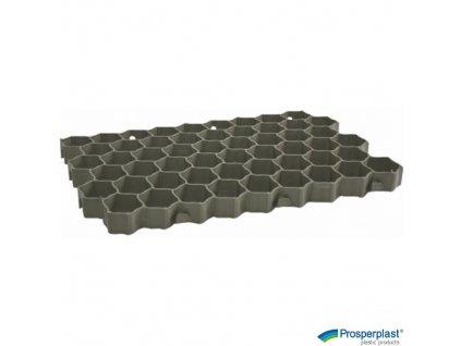 PROSPERPLAST® Dlaždice zahradní zatravňovací zelené, 60 x 40 x 3 cm, sada 4 ks