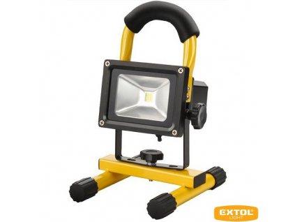 EXTOL® LIGHT Reflektor přenosný AKU, 10 W LED COB, 800 lm, Li-ion 7,4 V, 3600 mAh