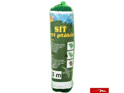 MILMAR Síť proti ptákům, zelená, oko 25 x 25 mm, 2 x 5 m