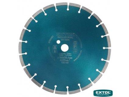 EXTOL® INDUSTRIAL Diamantový kotouč řezný na beton, segmentový, 300 x 25,4 x 3,2 mm