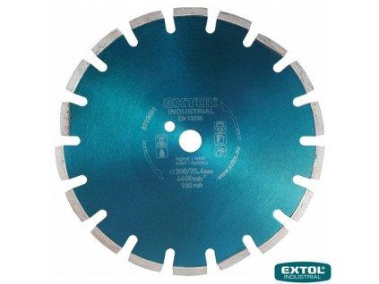 EXTOL® INDUSTRIAL Diamantový kotouč řezný na asfalt, segmentový, 350 x 25,4 x 3,2 mm