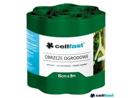 CELLFAST® Obruba plastová vlnitá, 9 m x 15 cm, tmavě zelená
