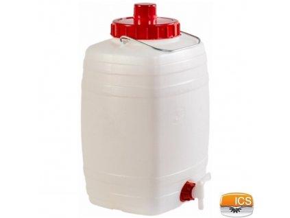 ICS® DEMETRA Barel na vodu 15 l, s ventilem, stohovatelný