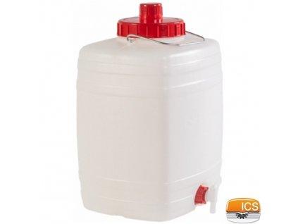 ICS® DEMETRA Barel na vodu 20 l, s ventilem, stohovatelný