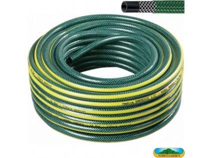 """NOHEL GARDEN® Hadice zahradní GARDENIE, 3/4"""", 25 m, zelená se žlutými pruhy"""