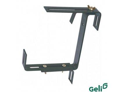 GELI® Držák truhlíku kovový, univerzální nastavitelný, antracit, sada 2 ks